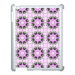 Pretty Pink Floral Purple Seamless Wallpaper Background Apple Ipad 3/4 Case (white)