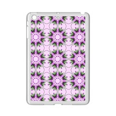 Pretty Pink Floral Purple Seamless Wallpaper Background Ipad Mini 2 Enamel Coated Cases