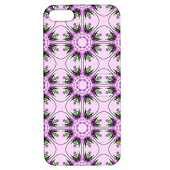 Pretty Pink Floral Purple Seamless Wallpaper Background Apple Iphone 5 Hardshell Case With Stand