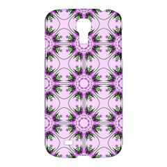 Pretty Pink Floral Purple Seamless Wallpaper Background Samsung Galaxy S4 I9500/I9505 Hardshell Case