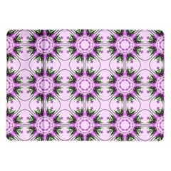 Pretty Pink Floral Purple Seamless Wallpaper Background Samsung Galaxy Tab 10.1  P7500 Flip Case