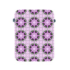 Pretty Pink Floral Purple Seamless Wallpaper Background Apple Ipad 2/3/4 Protective Soft Cases