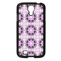 Pretty Pink Floral Purple Seamless Wallpaper Background Samsung Galaxy S4 I9500/ I9505 Case (black)