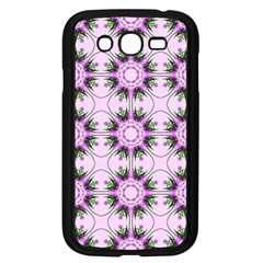 Pretty Pink Floral Purple Seamless Wallpaper Background Samsung Galaxy Grand Duos I9082 Case (black)