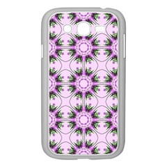 Pretty Pink Floral Purple Seamless Wallpaper Background Samsung Galaxy Grand DUOS I9082 Case (White)