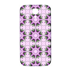 Pretty Pink Floral Purple Seamless Wallpaper Background Samsung Galaxy S4 I9500/i9505  Hardshell Back Case