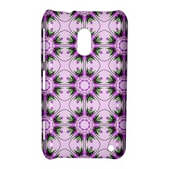 Pretty Pink Floral Purple Seamless Wallpaper Background Nokia Lumia 620
