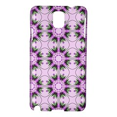 Pretty Pink Floral Purple Seamless Wallpaper Background Samsung Galaxy Note 3 N9005 Hardshell Case