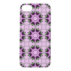 Pretty Pink Floral Purple Seamless Wallpaper Background Apple Iphone 5s/ Se Hardshell Case