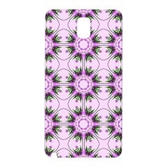 Pretty Pink Floral Purple Seamless Wallpaper Background Samsung Galaxy Note 3 N9005 Hardshell Back Case