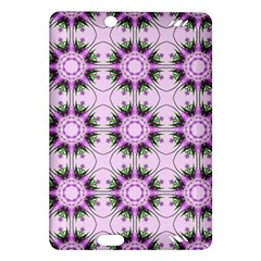 Pretty Pink Floral Purple Seamless Wallpaper Background Amazon Kindle Fire Hd (2013) Hardshell Case