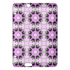 Pretty Pink Floral Purple Seamless Wallpaper Background Kindle Fire HDX Hardshell Case