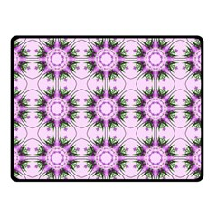 Pretty Pink Floral Purple Seamless Wallpaper Background Double Sided Fleece Blanket (Small)