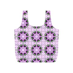 Pretty Pink Floral Purple Seamless Wallpaper Background Full Print Recycle Bags (s)