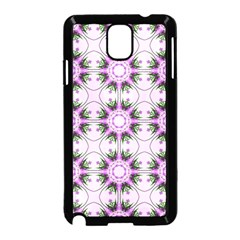 Pretty Pink Floral Purple Seamless Wallpaper Background Samsung Galaxy Note 3 Neo Hardshell Case (Black)