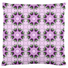 Pretty Pink Floral Purple Seamless Wallpaper Background Large Flano Cushion Case (two Sides)