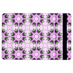 Pretty Pink Floral Purple Seamless Wallpaper Background iPad Air 2 Flip