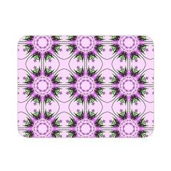 Pretty Pink Floral Purple Seamless Wallpaper Background Double Sided Flano Blanket (Mini)