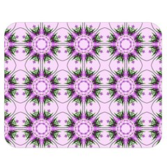 Pretty Pink Floral Purple Seamless Wallpaper Background Double Sided Flano Blanket (Medium)
