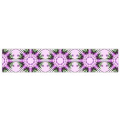 Pretty Pink Floral Purple Seamless Wallpaper Background Flano Scarf (Small)