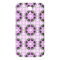 Pretty Pink Floral Purple Seamless Wallpaper Background Samsung Galaxy Mega I9200 Hardshell Back Case