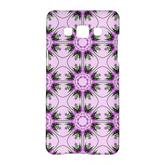 Pretty Pink Floral Purple Seamless Wallpaper Background Samsung Galaxy A5 Hardshell Case
