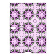 Pretty Pink Floral Purple Seamless Wallpaper Background Samsung Galaxy Tab S (10.5 ) Hardshell Case