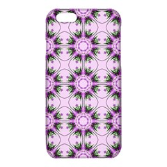 Pretty Pink Floral Purple Seamless Wallpaper Background iPhone 6/6S TPU Case