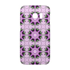 Pretty Pink Floral Purple Seamless Wallpaper Background Galaxy S6 Edge