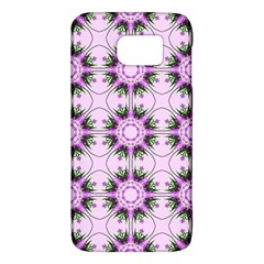 Pretty Pink Floral Purple Seamless Wallpaper Background Galaxy S6