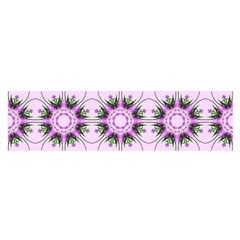 Pretty Pink Floral Purple Seamless Wallpaper Background Satin Scarf (Oblong)