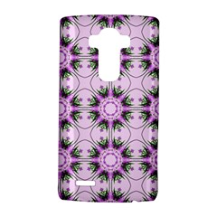 Pretty Pink Floral Purple Seamless Wallpaper Background LG G4 Hardshell Case