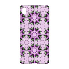 Pretty Pink Floral Purple Seamless Wallpaper Background Sony Xperia Z3+