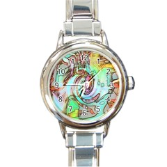 Art Pattern Round Italian Charm Watch