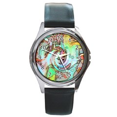 Art Pattern Round Metal Watch