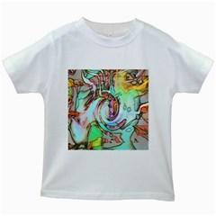 Art Pattern Kids White T-Shirts