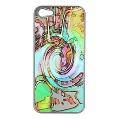 Art Pattern Apple iPhone 5 Case (Silver)
