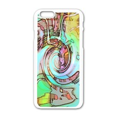 Art Pattern Apple Iphone 6/6s White Enamel Case