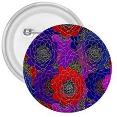 Colorful Background Of Multi Color Floral Pattern 3  Buttons