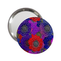 Colorful Background Of Multi Color Floral Pattern 2.25  Handbag Mirrors
