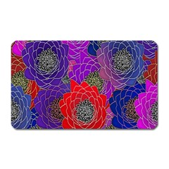 Colorful Background Of Multi Color Floral Pattern Magnet (Rectangular)