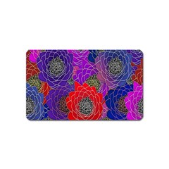 Colorful Background Of Multi Color Floral Pattern Magnet (name Card)