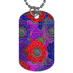 Colorful Background Of Multi Color Floral Pattern Dog Tag (One Side)