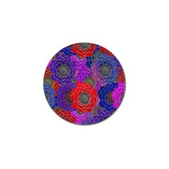Colorful Background Of Multi Color Floral Pattern Golf Ball Marker
