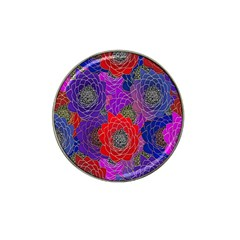 Colorful Background Of Multi Color Floral Pattern Hat Clip Ball Marker
