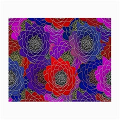 Colorful Background Of Multi Color Floral Pattern Small Glasses Cloth
