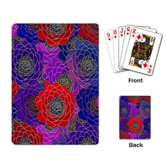 Colorful Background Of Multi Color Floral Pattern Playing Card