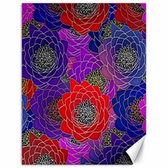 Colorful Background Of Multi Color Floral Pattern Canvas 12  X 16