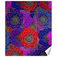 Colorful Background Of Multi Color Floral Pattern Canvas 20  X 24