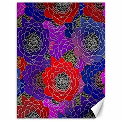 Colorful Background Of Multi Color Floral Pattern Canvas 36  X 48